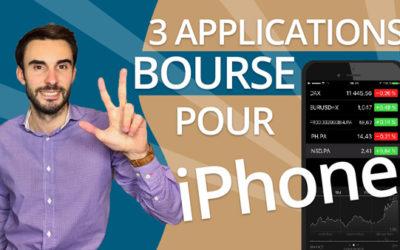 3 applications UTILES pour SUIVRE la BOURSE sur IPHONE