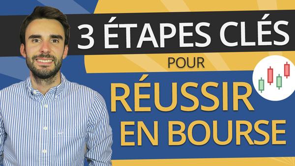 Les 3 ÉTAPES CLÉS pour RÉUSSIR en BOURSE