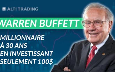 MILLIONNAIRE à 30 ANS en investissant SEULEMENT 100$ (Warren Buffett)