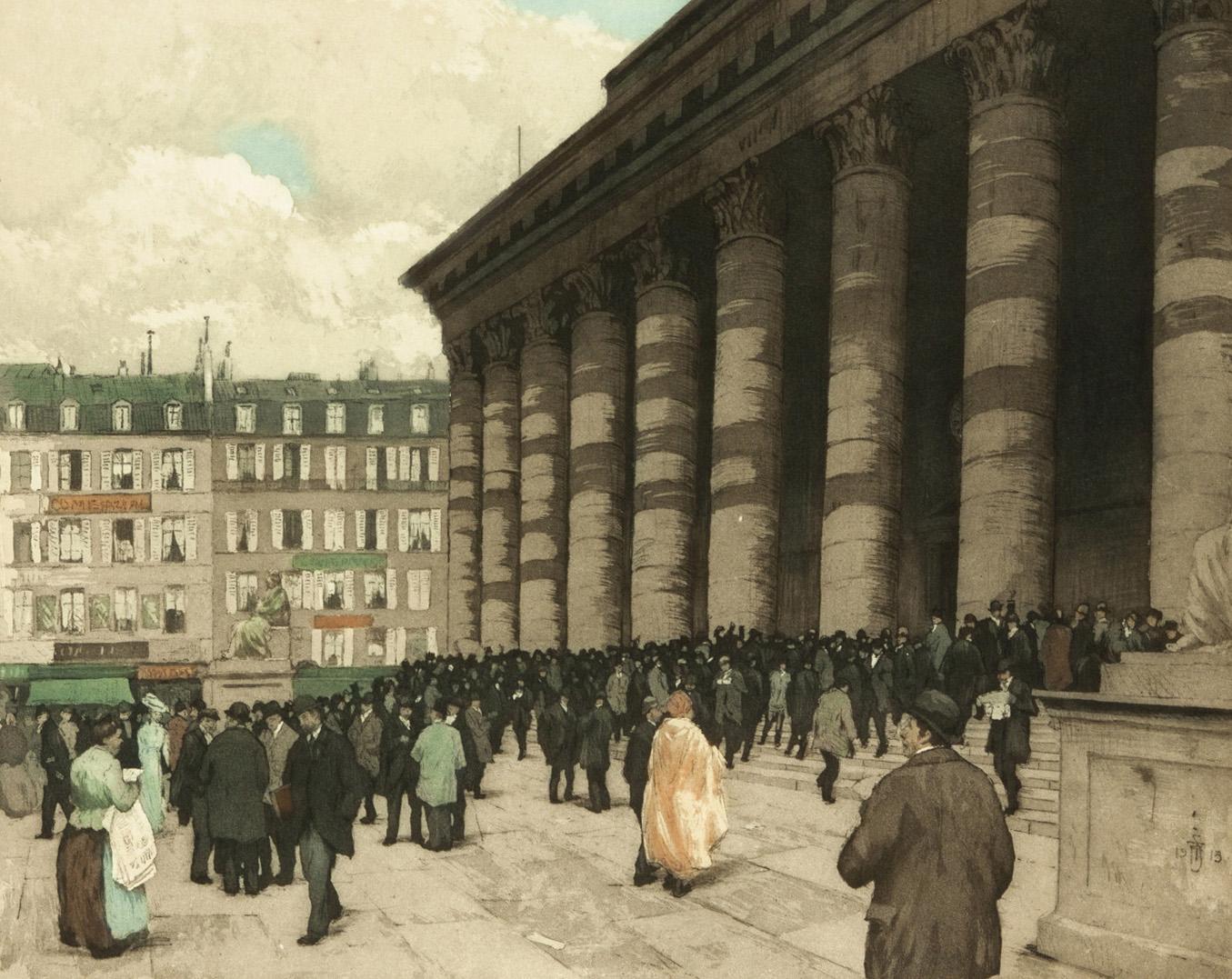 La Bourse de Paris dans les années 1900